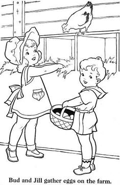 E is for egg gathering Ch is for chicken H is for hen F is for farm Art Drawings For Kids, Outline Drawings, Drawing For Kids, Coloring Pages To Print, Coloring Book Pages, Coloring Pages For Kids, Embroidery Patterns, Hand Embroidery, Paper Doll Craft