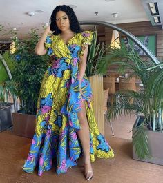Products Ankara Dress, Maxi Dresses, African Print Wrap Dress, Flare Dress, African Clothing for Wom Ankara Maxi Dress, African Maxi Dresses, Ankara Dress Styles, African Fashion Ankara, Latest African Fashion Dresses, African Dresses For Women, African Print Fashion, African Attire, African Prints