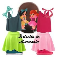"""Drizella &Anastasia Disneybound"" by queenbfierce on Polyvore"