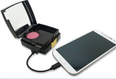 For women on the go, it's nice to have a makeup compact (Blush Compact Portable beauty charger) that can also charge your phone. - Robertsy