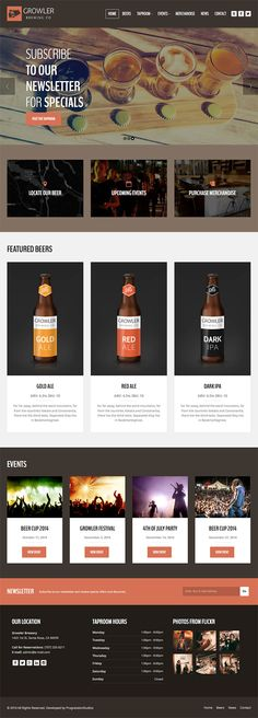 Growler is a cool brewery and vintage themed premium WordPress theme, great for any microbrewery, local coffee shop, bakery or other hipster shop. - WPExplorer