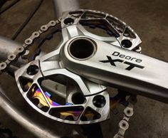 Joe Rogers Custom Ti Bash Guard On Crank