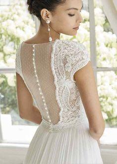 Wedding Dress Pictures, Wedding Dress Trends, Gorgeous Wedding Dress, Dream Wedding Dresses, Bridal Dresses, Bridesmaid Dresses, Beaded Wedding Dresses, Vintage Wedding Gowns, Rosa Clara Wedding Dresses