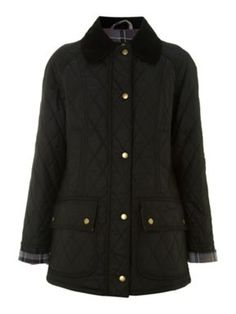 ade2667c711b09 Barbour Quilted Wax Beadnell Black - House of Fraser