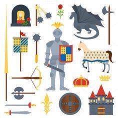 knight symbols vector illustration  @creativework247