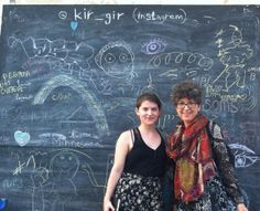 In the Florentin district of Tel Aviv is a chalkboard where you can make your own graffiti. Friday 20 June 2014