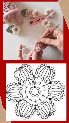 Crochet Bag Tutorials, Crochet Stitches For Beginners, Crochet Flower Tutorial, Crochet Videos, Crochet Projects, Crochet Snowflake Pattern, Crochet Flower Patterns, Crochet Designs, Crochet Flowers