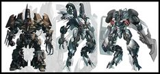 Original Decepticon concept designs.