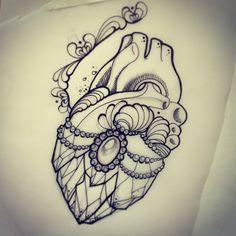 Dessin cœur de cristal.