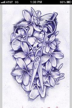 I want a tattoo like this when I graduate cosmetology school
