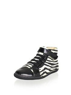 52% OFF Old Soles Kid's Bondi Hi-Top (Zebra/Black Patent)