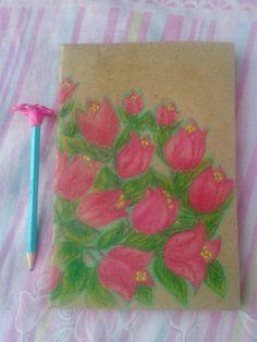 Cuaderno tamaño media carta. Bugambilias via Reco.arte. Click on the image to see more!