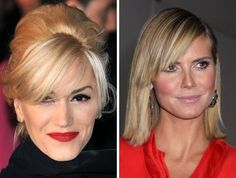 Cheekbone Bangs: If you revel in hair styling and need a new 'do, these bangs will bring out your features like Gwen and Heidi. The secret? Two layers of bangs, mousse and blow-drying them in the opposite direction.