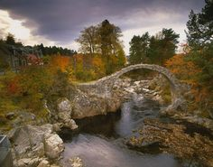 This quirky bridge is at Carrbridge, thought to be the oldest bridge in the highlands.  Photo from Visit Scotland