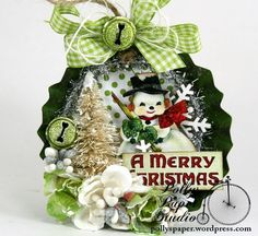 A Merry Christmas Tart Tin Holiday Ornament 1