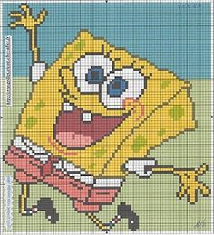 MORE CROSS STITCH: SpongeBob 6
