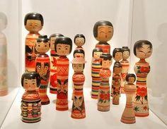 Traditional Kokeshi dolls