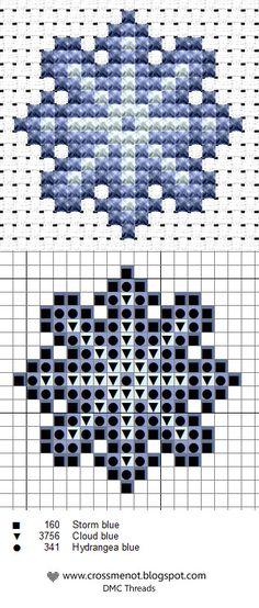 Free Snowflake Cross Stitch Pattern