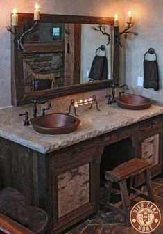 Incredible diy rustic bathroom remodelling ideas 33
