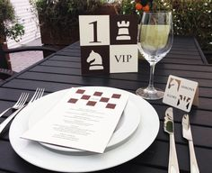 Table Numbers for Chess Themed Wedding, Event Table Decoration, Chessboard Style, Cutout, Scrapbook, Papercut by Naboko