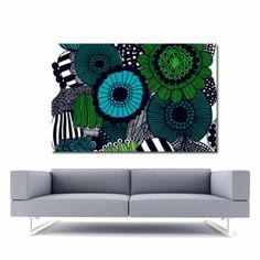 Great prices on your favourite Home brands, and free delivery on eligible orders. Interior Walls, Interior Design, Marimekko Fabric, Fabric Art, Free Delivery, Blue Green, Room Ideas, Interiors, Contemporary
