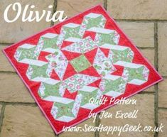 Tute with free pattern: Olivia baby quilt · Quilting | CraftGossip.com