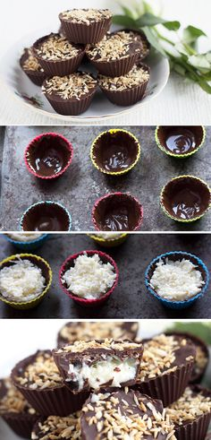 Homemade Coconut Mounds Cups - Erren's Kitchen