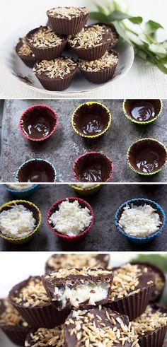 Homemade Coconut Mounds Cups - Erren's Kitchen