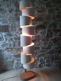 Unique Handmade Lamps Stepp Floor Lamp Unique Handmade Piece Of Sculptural But Functional Lighting Effect On Etsy 166 29 Unique Floor Lamps, Unique Lighting, Lighting Uk, Lighting Ideas, House Lamp, Lampe Decoration, Traditional Lighting, Handmade Lamps, Luminaire Design