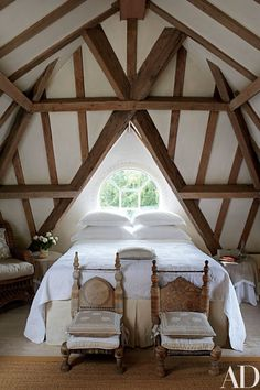 Light and airy: Anoushka Hempels Loft room         Vintage style, A frame Room     Country Charm     Church Conversion Bedroom   As a kid ...