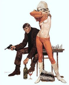 """""""Robert McGinnis (Born 1926) is an American illustrator known for his illustrations of paperback book covers and movie posters, including Breakfast at Tiffanys, Barbarella, and several James Bond films."""""""