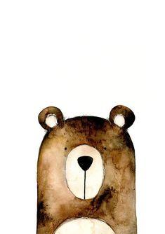 Nursery Wall Art - Bear Print – the wild woods Bear Nursery, Nursery Decor Boy, Animal Nursery, Woodland Nursery, Nursery Prints, Nursery Wall Art, Wall Art Decor, Wall Art Prints, Babies Nursery