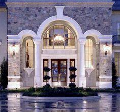 Home Front Entrance Design   front entrance of luxury home design 2 500x467 Luxury Home Design ...