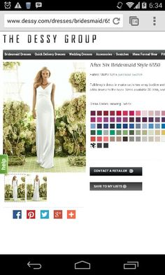 After six bridesmaid style 6550