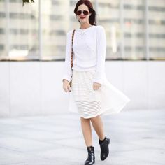 Look quase total white! Vic Ceridono | Dia de Beauté