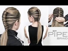 Pipe Braid DIY – Single Infinity Braid - EASY - YouTube - #Braid #DIY #Easy #Infinity #Pipe #Single #YouTube