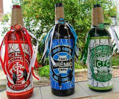 Eco Design by Carlos Rossi : 2015 Wine Bottle Art, Water Bottle, Carlos Rossi, Bottle Crafts, Decoupage, Diy And Crafts, Design, Angel, Decorative Bottles