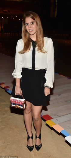 Beatrice, pictured at Tommy Hilfiger, was most recently seen relaxing on Roman Abramovich's yacht in Ibiza