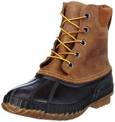 Sorel Men's Cheyanne Lace Full Grain Rain Boot,Chipmunk/Black,8.5 M US