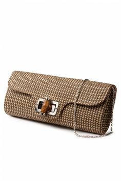 Collectif Clothing - 50s Bamboo Clutch Moca