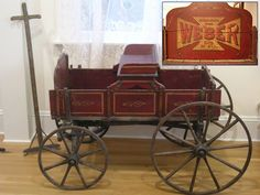 Weber Child's Wagon with original paint and stenciling