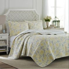 Found it at Joss & Main - 3-Piece Joy Reversible Quilt Set by Laura Ashley