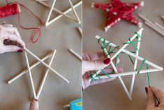 15 Dollar Store Christmas DIY Projects Anyone Can Do - The Krazy Coupon Lady Craft Stick Crafts, Diy And Crafts, Christmas Crafts, Christmas Decorations, Holiday Decorating, Craft Sticks, Christmas Tablescapes, Snowman Crafts, Christmas Gnome