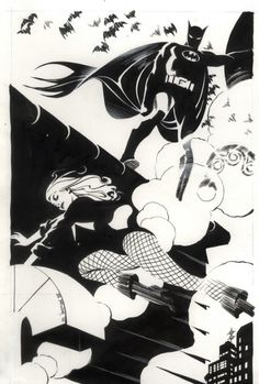 Batman & Black Canary by Steve Rude