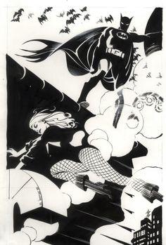 Batman & Black Canary by Steve Rude