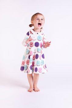 Organic Donut Twirl Dress Toddler Dress by LittleBowAndArrow