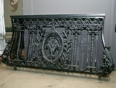 Fine Architectural Antiques, Urns, Lighting, Statues and Garden Antiques. Antebellum Home, French House, Steel Frame Doors, Balcony Railing, Iron Balcony, Window Design, French Balcony, Iron Railing, Balcony