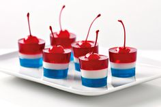 Jello Firecrackers make you all Sparkly inside. #4thofjuly #patrioticparties #foodforthefourth