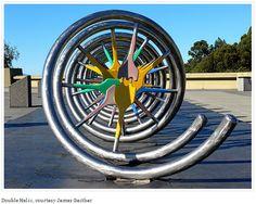 Sculpture Photographed at Lawrence Hall of Science - Berkeley, CA Dna Design, Double Helix, Genetics, Sculpture, Henrietta Lacks, Science, Spiral, Anatomy, Teacher