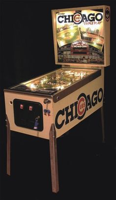 "1985 Chicago Cubs ""Triple Play"" Pinball Machine --- While I am not a Cub's fan, seeing my dads reaction to this pinball machine would be well worth the space it would it up."
